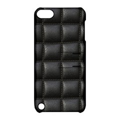 Black Cell Leather Retro Car Seat Textures Apple Ipod Touch 5 Hardshell Case With Stand by Nexatart