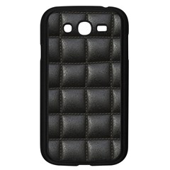 Black Cell Leather Retro Car Seat Textures Samsung Galaxy Grand Duos I9082 Case (black)