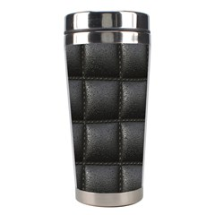 Black Cell Leather Retro Car Seat Textures Stainless Steel Travel Tumblers by Nexatart
