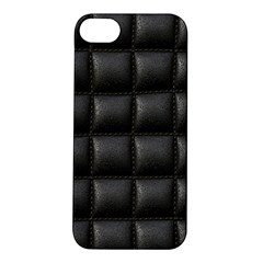Black Cell Leather Retro Car Seat Textures Apple Iphone 5s/ Se Hardshell Case