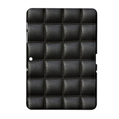 Black Cell Leather Retro Car Seat Textures Samsung Galaxy Tab 2 (10 1 ) P5100 Hardshell Case  by Nexatart