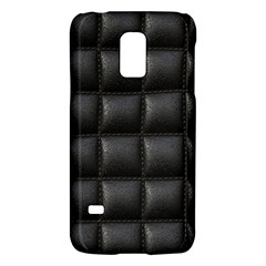 Black Cell Leather Retro Car Seat Textures Galaxy S5 Mini