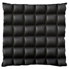Black Cell Leather Retro Car Seat Textures Large Flano Cushion Case (two Sides)