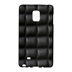 Black Cell Leather Retro Car Seat Textures Galaxy Note Edge