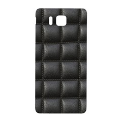 Black Cell Leather Retro Car Seat Textures Samsung Galaxy Alpha Hardshell Back Case by Nexatart