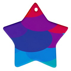 Circles Colorful Balloon Circle Purple Blue Red Orange Ornament (star) by Mariart