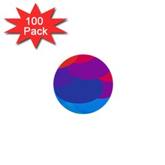 Circles Colorful Balloon Circle Purple Blue Red Orange 1  Mini Buttons (100 Pack)  by Mariart