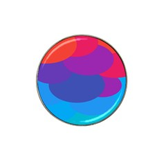 Circles Colorful Balloon Circle Purple Blue Red Orange Hat Clip Ball Marker (4 Pack) by Mariart