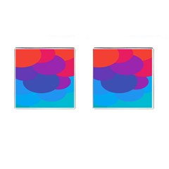 Circles Colorful Balloon Circle Purple Blue Red Orange Cufflinks (square) by Mariart