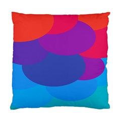 Circles Colorful Balloon Circle Purple Blue Red Orange Standard Cushion Case (two Sides) by Mariart
