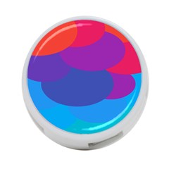 Circles Colorful Balloon Circle Purple Blue Red Orange 4 Port Usb Hub (two Sides)  by Mariart