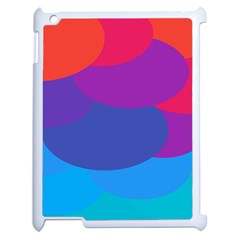 Circles Colorful Balloon Circle Purple Blue Red Orange Apple Ipad 2 Case (white) by Mariart