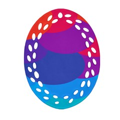 Circles Colorful Balloon Circle Purple Blue Red Orange Oval Filigree Ornament (two Sides) by Mariart