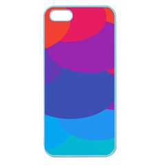 Circles Colorful Balloon Circle Purple Blue Red Orange Apple Seamless Iphone 5 Case (color) by Mariart