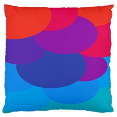 Circles Colorful Balloon Circle Purple Blue Red Orange Standard Flano Cushion Case (one Side) by Mariart