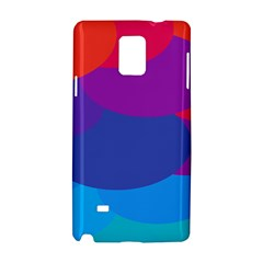 Circles Colorful Balloon Circle Purple Blue Red Orange Samsung Galaxy Note 4 Hardshell Case by Mariart