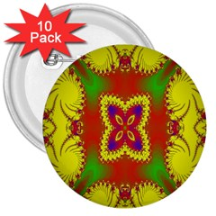 Digital Color Ornament 3  Buttons (10 Pack)
