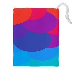 Circles Colorful Balloon Circle Purple Blue Red Orange Drawstring Pouches (xxl) by Mariart