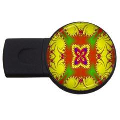 Digital Color Ornament Usb Flash Drive Round (2 Gb) by Nexatart