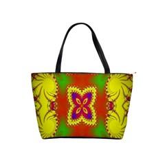 Digital Color Ornament Shoulder Handbags by Nexatart