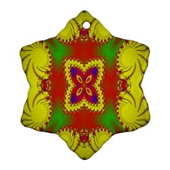Digital Color Ornament Snowflake Ornament (two Sides)
