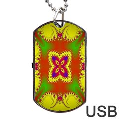 Digital Color Ornament Dog Tag Usb Flash (two Sides) by Nexatart