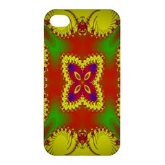 Digital Color Ornament Apple Iphone 4/4s Hardshell Case by Nexatart