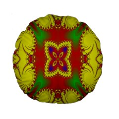 Digital Color Ornament Standard 15  Premium Round Cushions by Nexatart