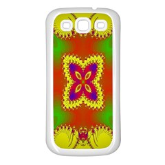 Digital Color Ornament Samsung Galaxy S3 Back Case (white) by Nexatart