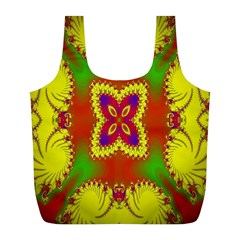 Digital Color Ornament Full Print Recycle Bags (l)  by Nexatart