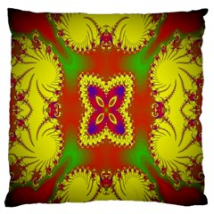 Digital Color Ornament Large Flano Cushion Case (two Sides) by Nexatart