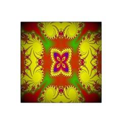 Digital Color Ornament Satin Bandana Scarf by Nexatart