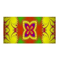 Digital Color Ornament Satin Wrap