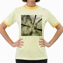 Trees Without Leaves Women s Fitted Ringer T Shirts