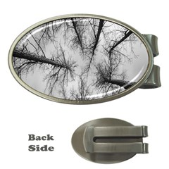 Trees Without Leaves Money Clips (oval)  by Nexatart
