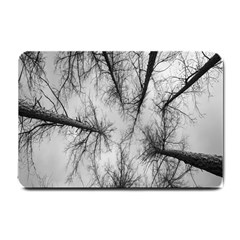 Trees Without Leaves Small Doormat  by Nexatart
