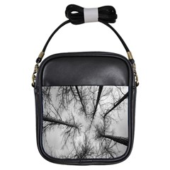 Trees Without Leaves Girls Sling Bags