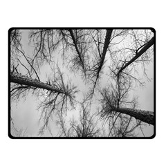 Trees Without Leaves Fleece Blanket (small) by Nexatart