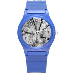 Trees Without Leaves Round Plastic Sport Watch (s) by Nexatart
