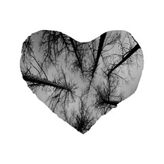 Trees Without Leaves Standard 16  Premium Heart Shape Cushions