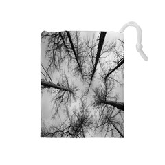 Trees Without Leaves Drawstring Pouches (medium)  by Nexatart