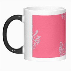 Branch Berries Seamless Red Grey Pink Morph Mugs by Mariart