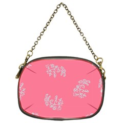 Branch Berries Seamless Red Grey Pink Chain Purses (one Side)  by Mariart