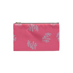 Branch Berries Seamless Red Grey Pink Cosmetic Bag (small)  by Mariart
