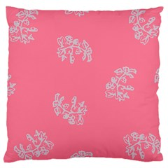 Branch Berries Seamless Red Grey Pink Large Cushion Case (two Sides) by Mariart