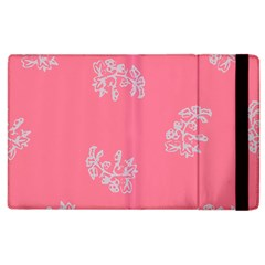 Branch Berries Seamless Red Grey Pink Apple Ipad 3/4 Flip Case by Mariart