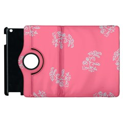 Branch Berries Seamless Red Grey Pink Apple Ipad 3/4 Flip 360 Case by Mariart