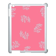 Branch Berries Seamless Red Grey Pink Apple Ipad 3/4 Case (white) by Mariart