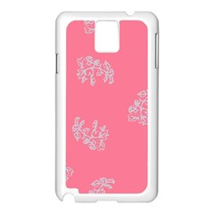 Branch Berries Seamless Red Grey Pink Samsung Galaxy Note 3 N9005 Case (white) by Mariart