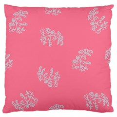 Branch Berries Seamless Red Grey Pink Standard Flano Cushion Case (two Sides) by Mariart